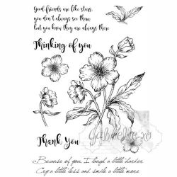 "49 & Market Clear Stamps 4""X6"" - Gabi's Hibiscus"